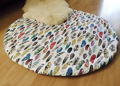 New Baby Padded Round Tummy Time Play Mat Roundies Nursery Rug Toy Blanket