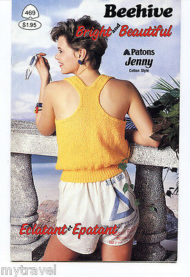 Patons Beehive Knitting Patterns Small Booklet - Bright and Beautiful