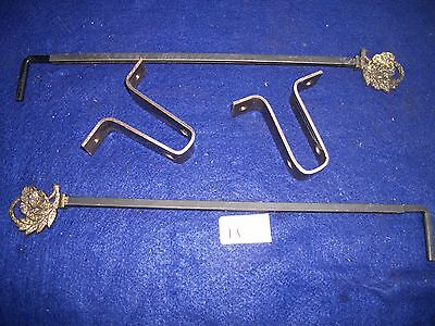 Antique-Vintage-Old- Cast Iron Swing A Way Drapery -Curtain Rods-