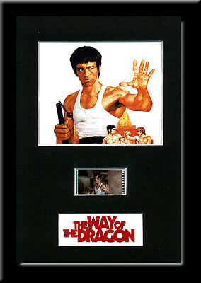 The Way of the Dragon Framed 35mm Mounted Film cells -  Bruce Lee memorabilia