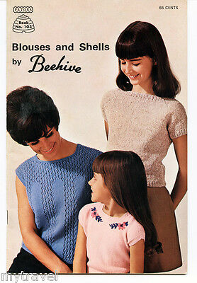Patons Beehive Knitting Patterns Small Booklet - Blouses and Shells