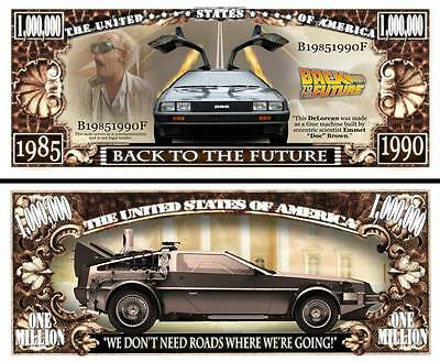 2 Notes Back to the Future Novelty Million Dollar Notes