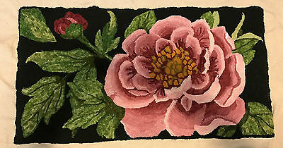 NEW! Peony Blossom Flower - Rug Hooking Pattern on Monks Cloth~ Choose Your Size