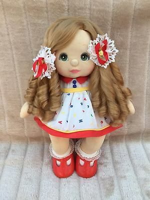 My Child Doll Strawberry Blonde Sidepart Green Charcoal
