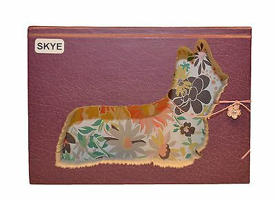Skye Terrier Upcycled Book - 001