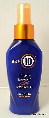 It's A 10 MIRACLE LEAVE IN PLUS KERATIN 4 oz Its a 10