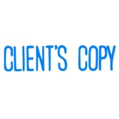 1x XStamper CLIENTS COPY Blue Self Inking Stamp  5011380.