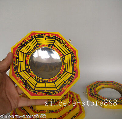 Feng shui Bagua Wooden Ba Guas Convex Mirror Lucky Ehance Health Protection