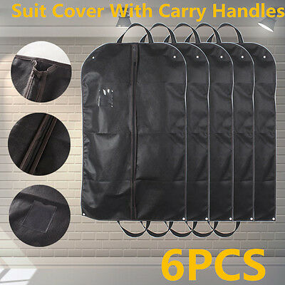 """3X Black Breathable Suit Carry Cover Garment Travel Storage Protector Bag 40"""""""