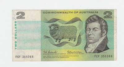 $2 Paper Banknote Commonwealth of Australia Coombs Wilson FCF  Series G-546