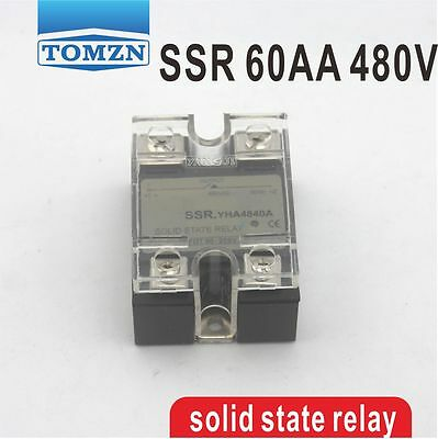 60AA SSR input 90-250V AC load 24-480V AC single phase AC solid state relay