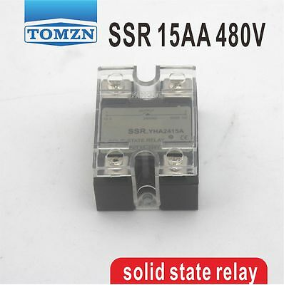 15AA SSR input 90-250V AC load 24-480V AC single phase AC solid state relay