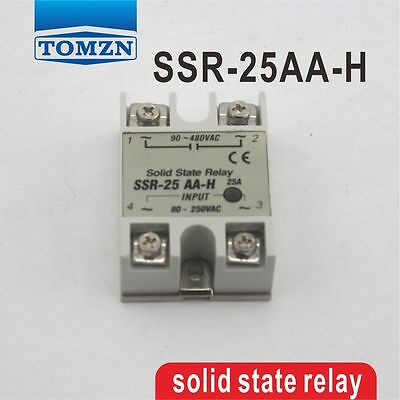 SSR 25AA-H High voltage type input 80-250V AC load 24-380V AC solid state relay