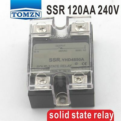 120AA SSR input 90-250V AC load 12-240V AC single phase AC solid state relay