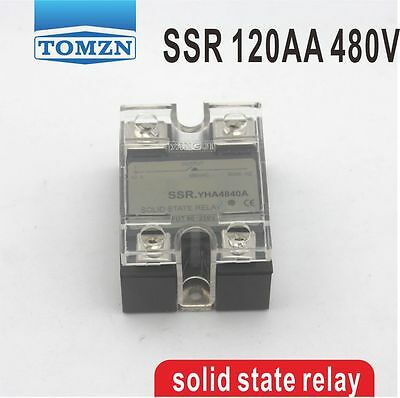 120AA SSR input 90-250V AC load 24-480V AC single phase AC solid state relay