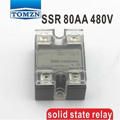 80AA SSR input 90-250V AC load 24-480V AC single phase AC solid state relay