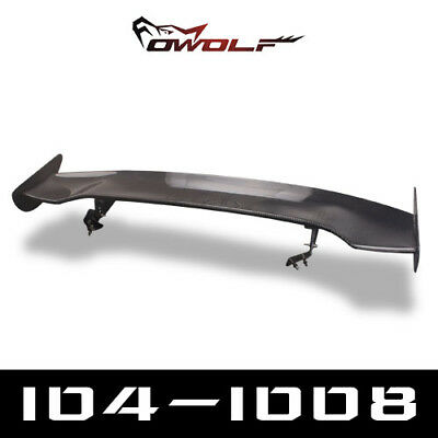Real Carbon Fiber Rear Roof Spoiler Wing For Hatchback Car Js Style Universal