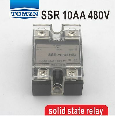 10AA SSR input 90-250V AC load 24-480V AC single phase AC solid state relay