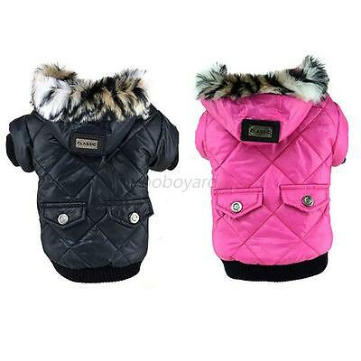 Winter Pet Warm Coat Dog Cat Puppy Hoodie Thick Jacket Clothes Apparel Costume