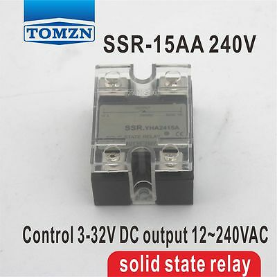 15AA SSR input 90-250V AC load 12-240V AC single phase AC solid state relay