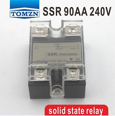 90AA SSR input 90-250V AC load 12-240V AC single phase AC solid state relay