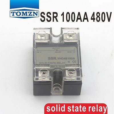 100AA SSR input 90-250V AC load 24-480V AC single phase AC solid state relay