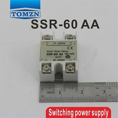 60AA SSR input 80~250 AC load 24-380V AC single phase AC solid state relay