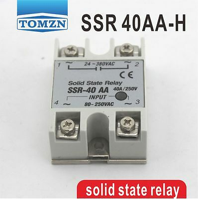 SSR 40AA-H High voltage type input 80-250V AC load 24-380V AC solid state relay