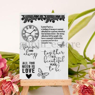 Clocks Clear Rubber Stamp Cling Seal Scrapbooking Transparent Card DIY Craft