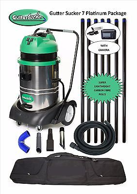Gutter Cleaning Vacuum with Inspection Camera 10.5 (35ft) Reach