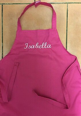Girls Apron 5-7yrs Personally Embroidered with name- Isabella -BNIP