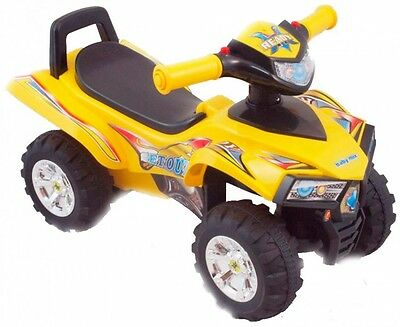 Baby Toddlers Ride On Push Along Ride on Quad - YELLOW