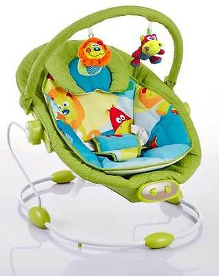 Baby Vibrating Musical Bouncer, Baby Rocker Chair, Hanging Ball Toys - GREEN