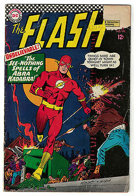 DC Comics THE FLASH Issue 170 The See-Nothing Spells Of Abra Kadabra! GD-