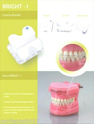 5 - 5 CASE Orthodontic Ceramic Brackets MBT 0.22, H 3,4,5  USA seller