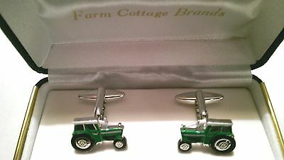 Tractor Cufflinks in blue, red or green farming Fendt John Deere Massey IH Claas