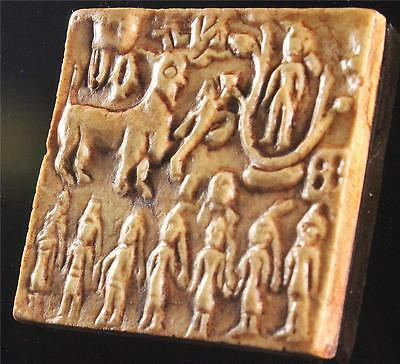 INDUS VALLEY GODDESS SEAL Harappan 2800 BC - museum replica