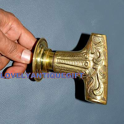 Vintage Brass Door Handle with plates