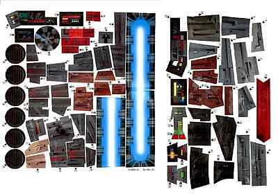 REPLACEMENT STICKER SHEET 1990s STAR WARS POWER OF THE FORCE 2 MILLENNIUM FALCON