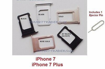 Replacement SIM Card Tray Slot Holder for iPhone7, iPhone 7 Plus + Ejector pin