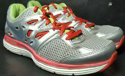 Nike Dual Fusion Athletic Running Sneaker Shoes Girls Size 6.5 Youth Gray Pink