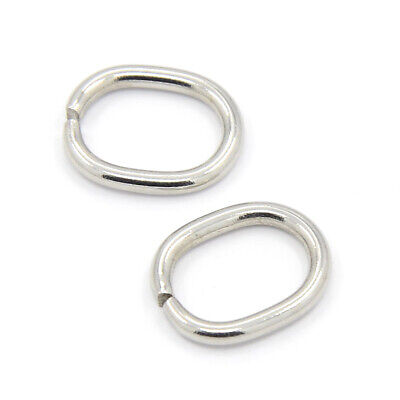 20PCS 304 Stainless Steel Jump Rings Closed but Unsoldered Oval 13.5x11x1.5mm
