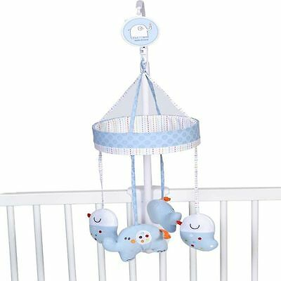 Redkite Hello Ernest Blue Musical Cot Mobile Elephant Baby Boy Brahms