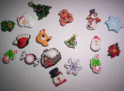 8 Asst Holiday Xmas Jibbitz Shoe Charms for Bracelets Soft Clogs Crocs
