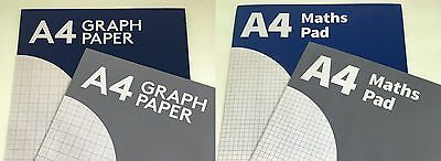 Pennine A4 Refill pad Graph paper - Maths Pad - Squared 5mm - 2mm grid 100 page