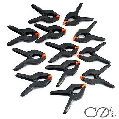 12 x LARGE 6'' PLASTIC SPRING CLAMPS MARKET STALL TARPAULIN COVER CLIPS GRIPS