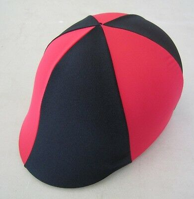 Horse Helmet Cover ALL AUSTRALIAN MADE Red & Black Any size you need