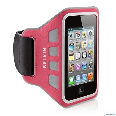 iPod Touch 4G 4th Gen Belkin Armband EaseFit Pink Case Cover Jogging Running Fit