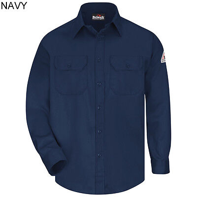 BULWARK SLU8 FR Flame Resistant 6oz weight - Long Sleeve Uniform Work Shirt