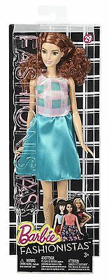 NEW Barbie Fashionista #29 Collection Terrific Teal - Curly Brunette